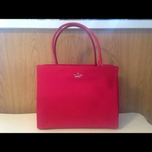 Kate Spade Red Nylon Classic Shoulder Bag Purse